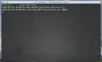 SSH session with my Pi